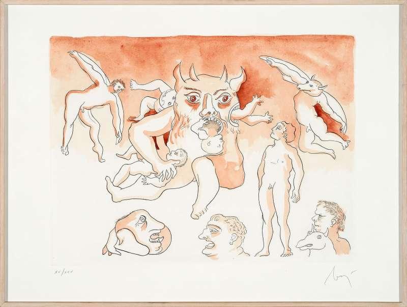 Enrico Baj, Il Paradiso Perduto, 1987