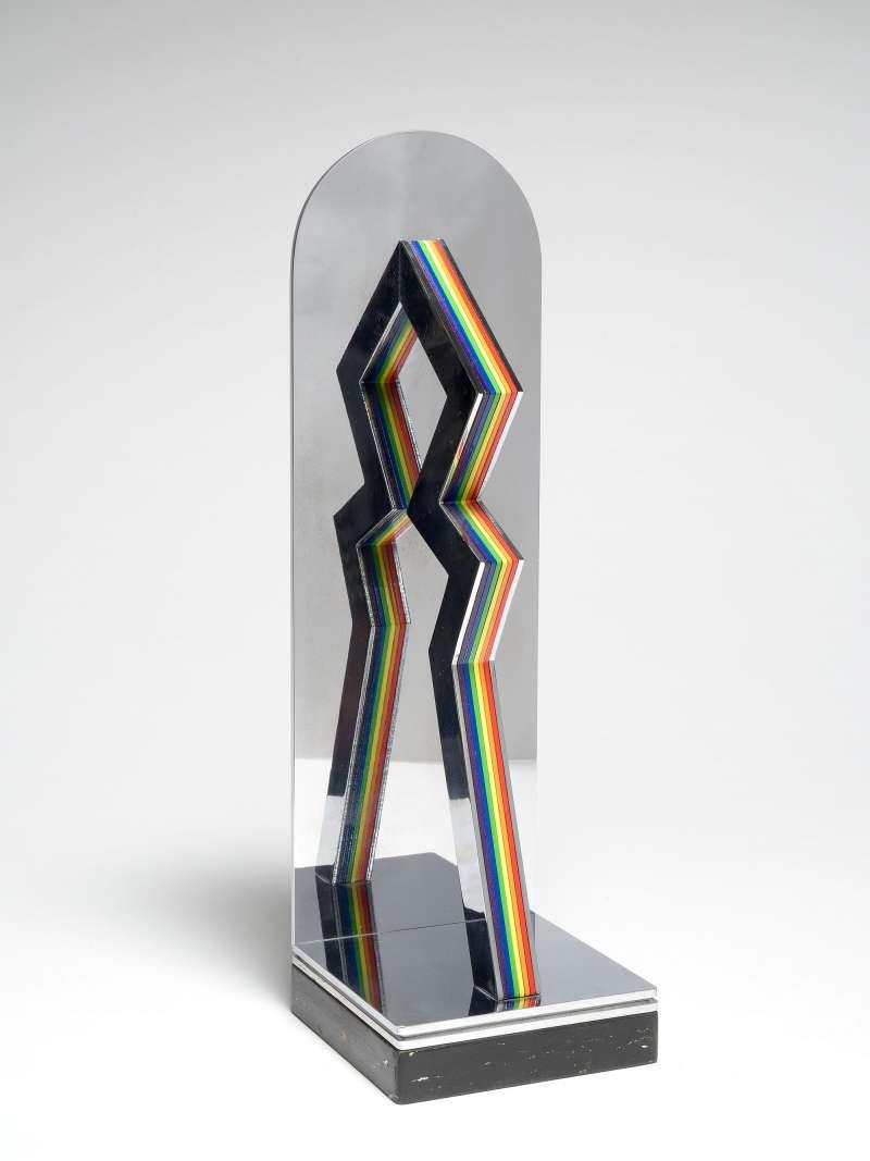 Lucio Del Pezzo, Zig-zag colore, 1975