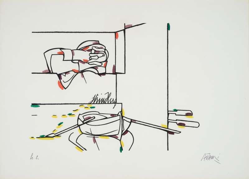 Valerio Adami, Strindberg, 1975